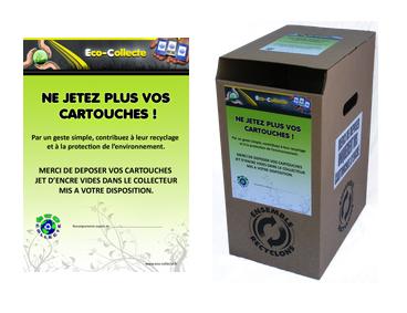 Bac de recyclage des cartouches jet d'encre d'imprimante