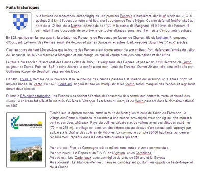 Découvrir le patrimoine de la commune des Pennes-Mirabeau