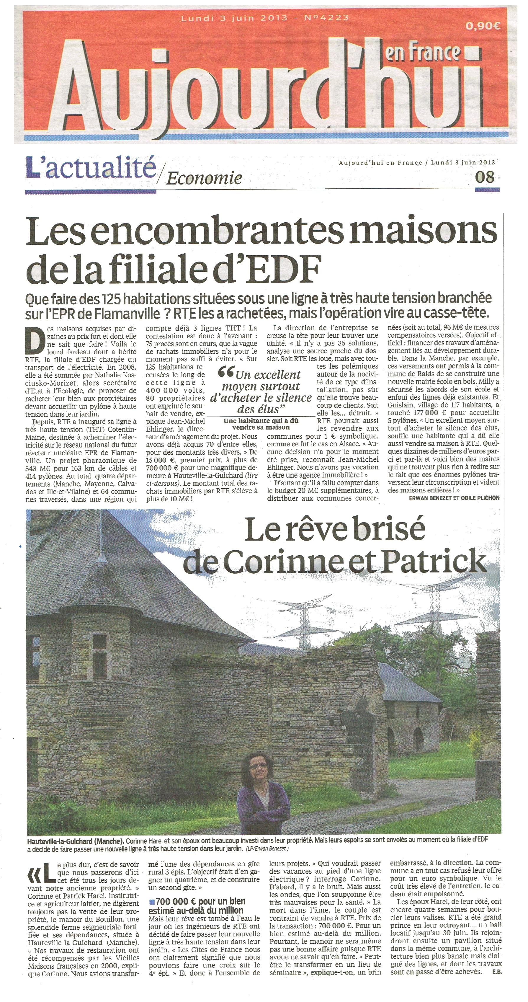Aujourd'hui en France du 08 juin 2013